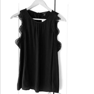 New! Ann Taylor black sleeveless lace top